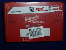 "100 pack 6"" 18 TPI Milwaukee Metal Sawzall Blades 48-01-7184 Double Duty"