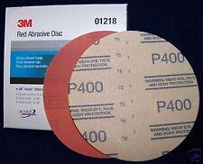 "3M Red 1219 Hook It 6"" Disc Sandpaper 320 grit 50/bx"