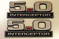 NEW 2 FORD MUSTANG CROWN VICTORIA POLICE SSP - 5.0 INTERCEPTOR EMBLEMS - PAIR 💥