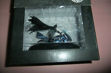 BATMAN ON BATCYCLE EURO VARIANT LEAD STATUE SDCC RRP WITH BOOKLET