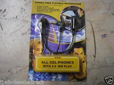 New Hands free Flexible Microphone All Cel-phones with 2.5 MM Plug collar clip