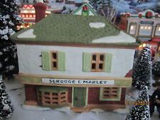 "Dept 56 Train House Village ""Scrooge & Marley Counting"" plus+ Lemax Info!"