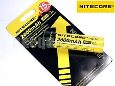 Nitecore 18650 2600 NL186 3.7v Protected PCB Li-ion 2600 Rechargeable Battery