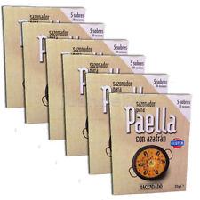 6 PACK SPANISH PAELLA SEASONING MIX WITH SAFFRON, (5 SACHETS / PACK)