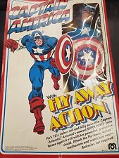 Vintage 1979 Marvel Captain America with Fly Away Action 12' inch Figure in Box