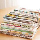 20Pcs Mixed Printing Vintage Cotton Linen Fabric Handmade Craft DIY Cloth Sewing