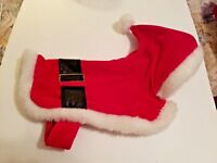 Hooded Dog Coat Santa Suit Size Small COMPANION ROAD Pet Fashions