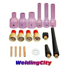 "TIG Welding Torch 9/20 Gas Lens Accessory Kit .040""-1/8"" T32A 