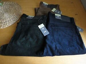 M&S Mens Slim Fit Corduroy Trousers Green Navy Brown 30 32 34 36 38 40 Waist NEW