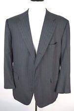Kiton Napoli Diamante Blu Super 150s Gray Striped Jacket Blazer Coat Mens 44L