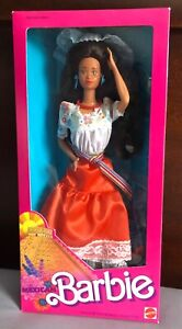 1989 Mexican 1st Ed. Dolls of the World Barbie Special Ed. Mattel MINT BOX (OH)