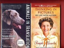 2 Temple Grandin Books: Animals In Translation & Thinking In Pictures -Free Ship