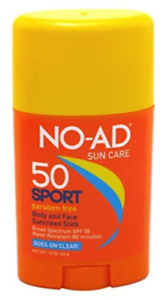 (6 PACK ) NO-AD SPF 50 Sport Body and Face Sunscreen Stick - 1.5 oz, EXP.12/22