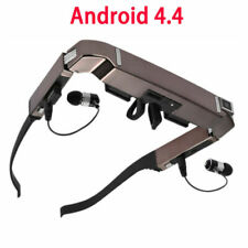 """80"""" Portable Smart 3D VR Video Glasses Android 4.4 Bluetooth Virtual 5MP Camera"""