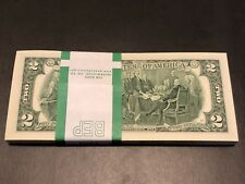 100 PCS BRAND NEW Two(2) Dollar Bills BEP Pack 2013 Sequential Order~FULL BUNDLE