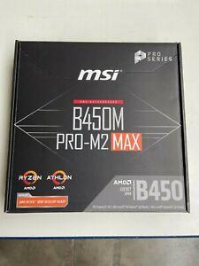 MSI B450M PRO-M2 MAX AMD AM4 DDR4 m.2 USB 3.2 Gen 2 HDMI M-ATX Motherboard OVP