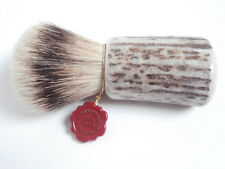 OMEGA Rasierpinsel Dachs Bester SILBERSPITZ Deer HIRSCHHORN Shaving brush Stag!