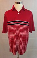 FootJoy FJ Men's Red Short Sleeve Polo Golf Shirt Size Large