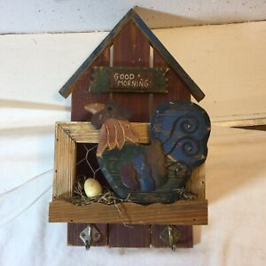 Wooden Mail, Key Holder, Chicken Coop, Good Morning, Wood And Metal