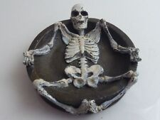 COLD PAINTED BRONZE SKELETON DISH