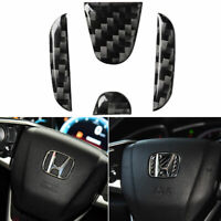 Vehicle Steering wheel Logo Carbon Fiber Decal Sticker For Honda Civic 2016-2019