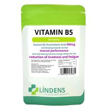 Vitamin B-5 500mg 1-a-day 3-PACK 270 tablets Pantothenic Acid B5 Brain Energy