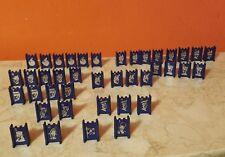 Milton Bradley STRATEGO 40 Blue Army Replacement Pieces 1977 VGC
