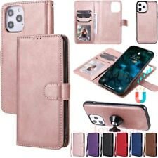 For iPhone 12 11 Pro Max XR SE 8 6s Magnetic Removable Leather Wallet Case Cover
