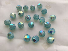 24 Swarovski #5000 8mm Crystal Pacific Opal AB Faceted Round Beads