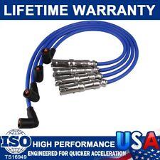 8mm 4X Spark Plug Wires Set 27588 Replace For Beetle Bora VW Golf GTI Jetta 2.0L