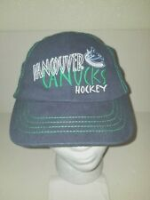 Nice Kids Embroidered  VANCOUVER CANUCKS HOCKEY Cap Hat Fastener Stretch Strap
