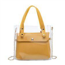 Transparent Handbag Crossbody  Satchel Shoulder Clear Cluthes Messenger Tote Bag