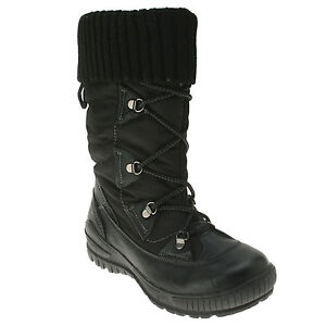 Spring Step Women's Frigid Black Waterproof Snow Boots size US 5-11 EUR 36-42