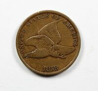 1858 Flying Eagle Cent Nice VF+
