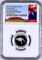 PROOF 2016 Australia Red Kangaroo Silver 1/4 oz coin NGC PF 70 ER NEW Label +OGP