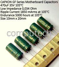 5 pezzi Condensatore 470uf 35V 105°C CAPXON GF VENT low ESR Motherboard CAP