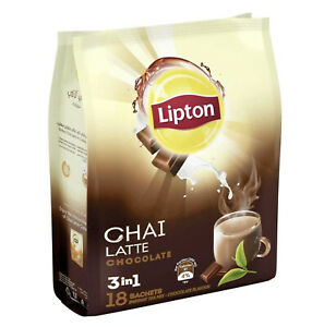 Lipton Chai Latte 3-in-1 CHOCOLATE Instant Tea Mix 18 Sachets (Limited Stock)
