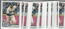 Lot of (10) 2020 Bowman KYLE LEWIS Rookie Card LOT #78 Mariners QTY Available