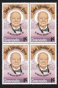 Sir Winston Churchill MNH VF Block of 4