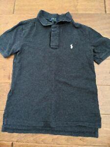 Ralph Lauren Boys 10-12, Medium Dark Gray Collar Button Shirt