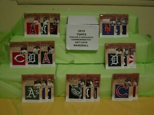 2012 TOPPS UPDATES BASEBALL BLOCKBUSTERS HAT PATCH LOGO CARDS COMPLETE SET 30 CT
