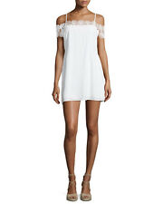 Suboo Stevie Ivory White Lace Cut Out Off Shoulder Mini Sundress Beach 8 10 12