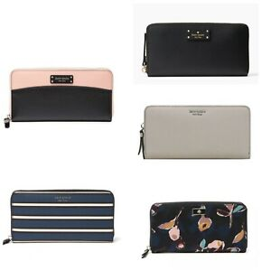 Kate Spade New York leather cameron york large continental wallet/Various colors