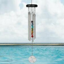 """Woodstock Chakra Chimes - Seven Stones Wind Chimes, 17"""" Overall Length #dm"""