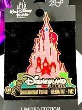 Nwt Signed Disney Commemorative Edition Disneyland Paris Opening Day 1992 Pin