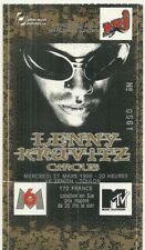 RARE / TICKET BILLET DE CONCERT - LENNY KRAVITZ : LIVE A TOULON ( FRANCE ) 1996
