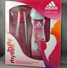 Adidas Fruity Rhythm 30ml/1 oz natural spray 250ml/8.4oz Shower Gel Set