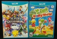 Nintendo Wii U 3 Game Lot Super Smash Bros. + Yoshi's Woolly  World Complete