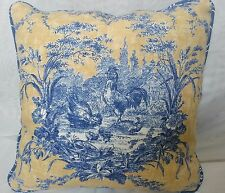 A PAIR  OF WAVERLY  LA PETITE FERME ROOSTER FRENCH COUNTRY CORDED PILLOW COVERS