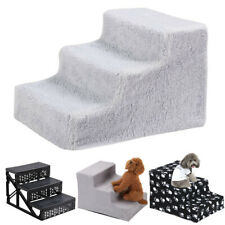 3 Step Soft Stairs Washable Doggy Pet Dog Ladder Puppy Cover Ramp Foldable Doggy